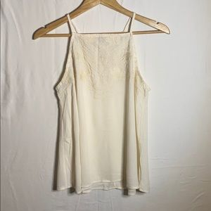 Off white cami blouse w/ floral design NWOT Size:M